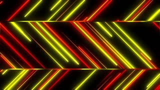 Metro Stylish Light Streaks Seamless Loop 4K Ultra HD Red Yellow Orange