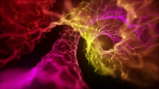 Microscopic View Of Flow of Energy Without Rack Focus Spiraling | Flow of Unknown Energy Seamless Looping VJ Loop Motion Background Video Backdrop | Erotic Exotic Pink Red Yellow Orange