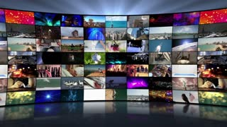 Multi-Screen Video Wall Monitors Multiple Screens Not Seamless Motion Background Version 1