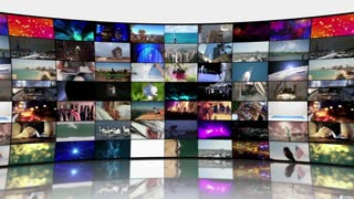 Multi-Screen Video Wall Monitors Multiple Screens Not Seamless Motion Background Version 3