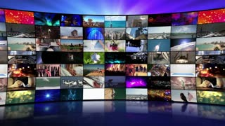 Multi-Screen Video Wall Monitors Multiple Screens Not Seamless Motion Background Version 4