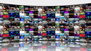 Multi-Screen Video Wall Monitors Multiple Screens Not Seamless Motion Background Version 7