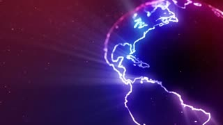 Neon Globe Neon Earth Seamless Looping Motion Background Version 2