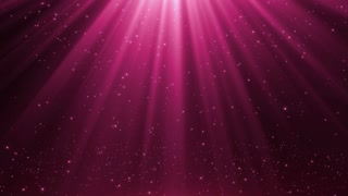 New Version Magical Rain of Sparkling Orbs with Light Rays from Sky Seamless Loop Motion Background 4K Ultra HD Glamorous Pink