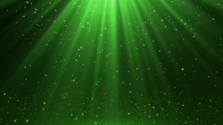 New Version Magical Rain of Sparkling Orbs with Light Rays from Sky Seamless Loop Motion Background 4K Ultra HD Natural Green