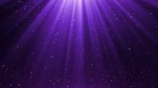 New Version Magical Rain of Sparkling Orbs with Light Rays from Sky Seamless Loop Motion Background 4K Ultra HD Purple Violet