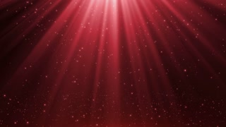 New Version Magical Rain of Sparkling Orbs with Light Rays from Sky Seamless Loop Motion Background 4K Ultra Red Maroon
