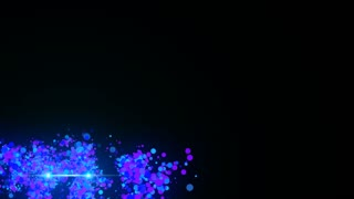 Transparent Lower Third Alpha Channel Particles Based Seamless Loop Full HD Purple Blue ( Just Drag and Drop on your Foootage )