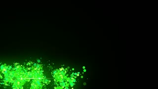 Transparent Lower Third Alpha Channel Particles Based Seamless Loop Full HD Green ( Just Drag and Drop on your Foootage )