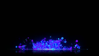 Particles Based Lower Third with reflective floor Seamless Loop Full HD Blue