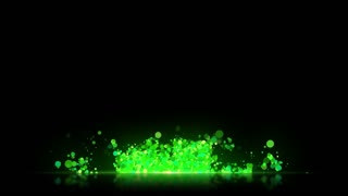 Transparent Background Lower Third with reflective floor Seamless Loop Full HD Green