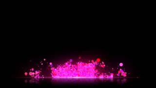Transparent Background Lower Third with reflective floor Seamless Loop Full HD Pink Red