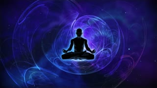 Person in lotus yoga pose achieving nirvana or enlightenment HD Seven Chakras | 7 Chakra Animation