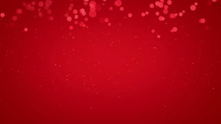 Red  Bubbles Particles Background Looped 4K and Full HD