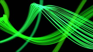 Ribbons From Heaven Beautiful Colorful Looped Background Full HD Green
