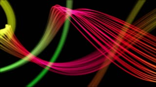 Ribbons From Heaven Beautiful Colorful Looped Background Full HD Pink Magenta Red Multicolor