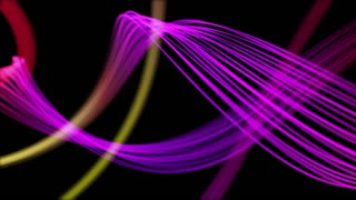 Ribbons From Heaven Beautiful Colorful Looped Background Full HD Purple Violet Multicolored