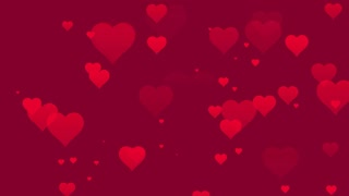 Seamless Hearts Motion Background 4K and Full HD Pink