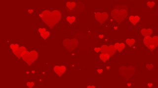 Seamless Hearts Motion Background 4K and Full HD Red