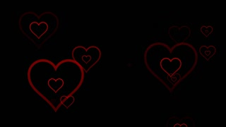 Seamless Hearts Motion Background 4K and Full HD Version 3 Black