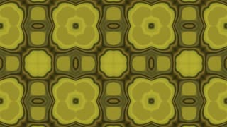 Seamless looped Kaleidoscope Fractal Pattern Background Ultra HD 4K Golden Yellow