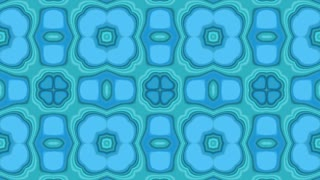 Seamless looped Kaleidoscope Fractal Pattern Background Ultra HD 4K Light Blue Cyan Frozy