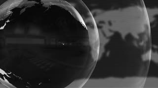 Shiny Spinning Metal Globe Full HD Motion Background Black and White Grayscale