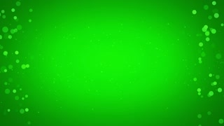 Side Particles Background Seamless Loop Green 4K and Full HD