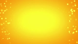 Side Particles Background Seamless Loop Yellow 4K and Full HD