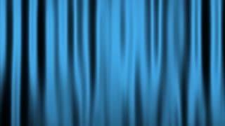 Silk Velvet Curtain Seamless Looping Motion Background Cyan Light Blue