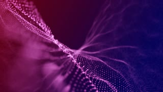 Slow Motion Formation of Particles Seamless Looping Motion Background Pink Red Blue