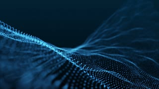 Slow Motion Formation of Particles Seamless Looping Motion Background Version 1 Blue