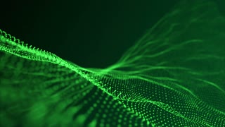 Slow Motion Formation of Particles Seamless Looping Motion Background Version 1 Green