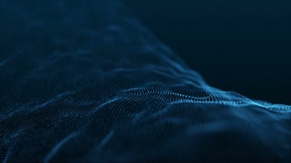 Slow Motion Formation of Particles Seamless Looping Motion Background Version 2 Blue