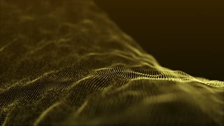 Slow Motion Formation of Particles Seamless Looping Motion Background Version 2 Gold Golden Yellow
