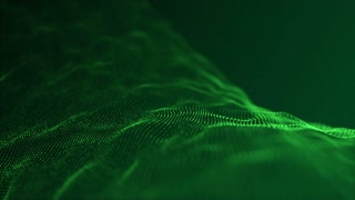 Slow Motion Formation of Particles Seamless Looping Motion Background Version 2 Green