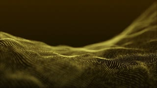 Slow Motion Formation of Particles Seamless Looping Motion Background Version 3 Gold Golden Yellow