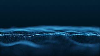 Slow Motion Formation of Particles Seamless Looping Motion Background Version 4 Blue