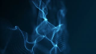 Slow Motion Formation of Particles Seamless Looping Motion Background Version 6 Blue