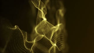 Slow Motion Formation of Particles Seamless Looping Motion Background Version 6 Gold Golden Yellow