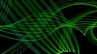 Smooth Elegant Curved Lines Looped Motion Background Green