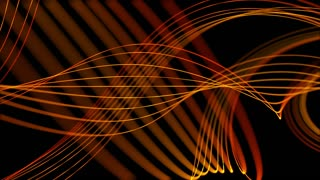 Smooth Elegant Curved Lines Looped Motion Background Orange Golden Yellow