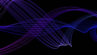 Smooth Elegant Curved Lines Looped Motion Background Purple Blue