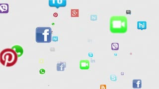 Social Media Icons Floating Version 2