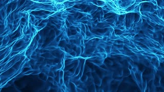 Stylized Abstract Ocean like Water Surface or Blue Flames Seamless Loop Motion Background Full HD