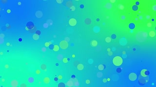Sweet Colorful Particles Looping 4K Ultra HD Motion Background Blue Cyan Green Teal turquoise Cool