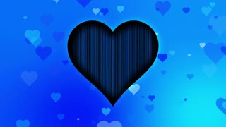 Cute Little Hearts Romantic Sweet Colorful Particles Looping 4K Ultra HD Motion Background Blue Cyan Sky Icy Cool