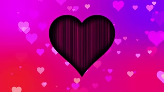 Cute Little Hearts Romantic Sweet Colorful Particles Looping 4K Ultra HD Motion Background Pink Red Purple Violet
