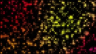 Synchronized Wall of Lights Flashing Motion Background 4K and Full HD Orange