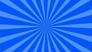 Traditional and classic Sunburst or Starburst background Blue 4K and Full HD
